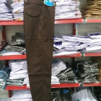 Seragam Celana Panjang Pramuka SMP SMA / Celana Panjang Pramuka Coklat
