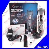 KM-605 KEMEI 605 ALAT CUKUR RAMBUT WATERPROOF MULTI UKURAN SEPATU