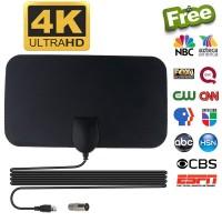 2BB4 Kebidumei Antena TV Digital DVB-T2 4K High Gain 25dB - Black