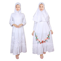 Baju Gamis Anak Putih Fayrany FGP-012 size 1 - 5 Tahun