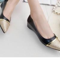flat shoes variasi bahan kilat