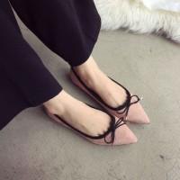 sepatu flat pita kecil