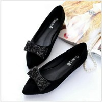 flat shoes pita silver