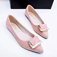 flat shoes variasi gold