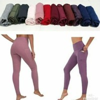 GOTTEX Celana Senam Sport Legging Side Pocket Celana Senam Celana Yoga