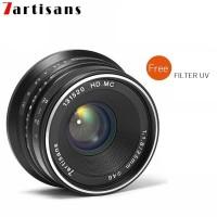 Murah Lensa 7artisans 25mm F1.8 For Fuji - Hitam Lens W
