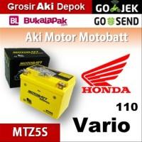 Aki kering gel Vario Honda MOTOBATT MTZ5S accu motor u/ GS Yuasa