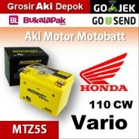 Aki kering/ Vario 110 CW Honda/ MOTOBATT MTZ5S/ accu gel motor BB