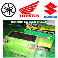 Aki Accu kering Alkaline Series Motor Honda Beat karbu dan Beat Fi