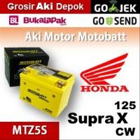 Aki kering/ Supra X 125 CW Honda/ MOTOBATT MTZ5S/ accu gel motor BB