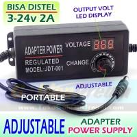 Adaptor Adjustable 3-24v DC 2A Power Supply Adapter Universal Voltage