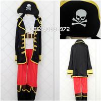 Kostum Cosplay Anak Laki Pirate Bajak Laut Helloween Ulang Tahun