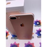 iphone 7 plus 128gb rosegold second ex inter fullset mulus