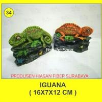 hiasan fiber / iguana / hiasan aquarium
