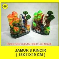 hiasan fiber / jamur 8 kincir / hiasan aquarium