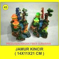 hiasan fiber / jamur kincir / hiasan aquarium