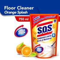 SOS Pembersih Lantai Orange Splash 750 ml / SOS Wangi Jeruk 750ml