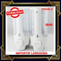 Dispenser Sabun Cair DOUBLE with Key Lock Tempat Sabun Cair DOUBLE