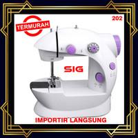 Mesin Jahit Mini Portable SM 202 - Ada Lampu - mini sewing machine