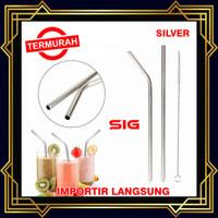 Sedotan Stainless Steel Straw PERAK - Sedotan Metal