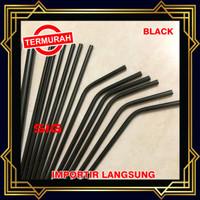 Sedotan Stainless Steel Straw HITAM - Sedotan Metal