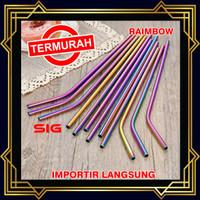 Sedotan Stainless Steel Straw RAINBOW / PELANGI - Sedotan Metal