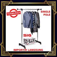 Stand hanger Single rak Serbaguna - Gantungan Baju
