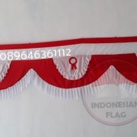 Bendera merah putih Rumbai 10 gelombang 10 meter