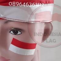 Bendera Sticker kecil merah putih 1 pack isi 10