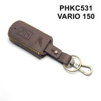 PHKC531 Gantungan Kunci sarung case remote honda vario 150 -Kulit Asli