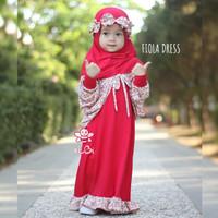 Fiola Dress Grade B Little Bee Boutique|Baju Anak Murah|Baju Muslim
