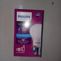 Lampu LED Philips 4 watt Bohlam 4 w / Philip Putih 4w Bulb LED