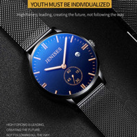 Jenises jam tangan pria Mens Watch Quartz Ultra Thin Luminous