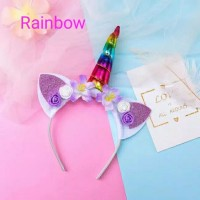 Bando | Headband tanduk unicorn | anak dan bayi perempuan