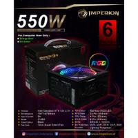 Power Supply PSU Gaming Imperion P500 550W LED VGA 6 PIN RGB