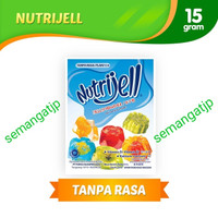 15gr tepung serbuk agar jelly NUTRIJELL nutrijel PLAIN tanpa rasa