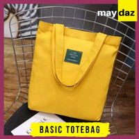 Basic Totebag // Shoulder Bag Simple Wanita Tote Bag Korea