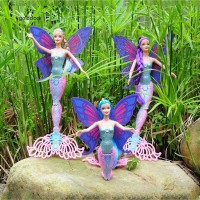 GDCK Colorful Flying Fairy Dolls with Wings Movable Princess Children