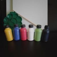 1 Paket Alat Lukis Kanvas 30cm x 40cm + Koas + Palet + Cat Akrilik