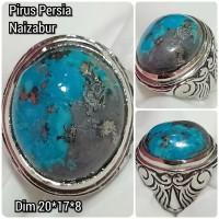 cincin natural batu akik permata pirus persia naizabur v