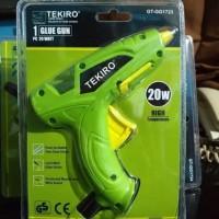 glue gun / lem tembak 1 set listrik 20 watt -Hijau TEKIRO