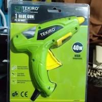 glue gun / lem tembak 1 set listrik 40 watt- Hijau TEKIRO