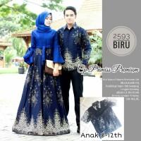 batik couple gamis batik pasangan seragam keluarga modern terlaris