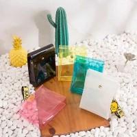 Sling Bag Transparan Elegan Import Wanita Korea Selempang Fashion