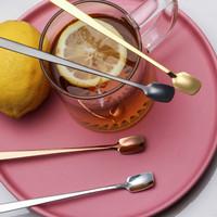 Sendok Cantik Stainless Kecil Ice Cream Teh Kopi Minuman Properti Foto