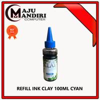 TINTA REFILL UNIVERSAL / ISI ULANG PRINTER - CLAY 100 ML CYAN