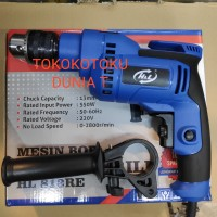 Mesin Bor Listrik Bor Tangan 13mm Tembok Beton Hammer Merk H&L