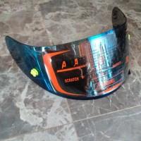 flat visor iridium blue gold silver kyt rc7 kyt k2r kyt r10