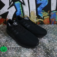 Sepatu Casual Sekolah Adidas Neo Full Black Hitam Anak Pria Wanita
