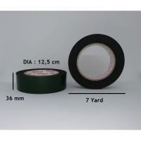 lakban busa / double tape foam hijau 36 mm